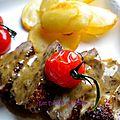 Filet de <b>canard</b> au poivre et à l'Armagnac