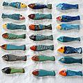 sardines porte couteaux : serie bleue, série jaune , série rouge <b>orange</b>