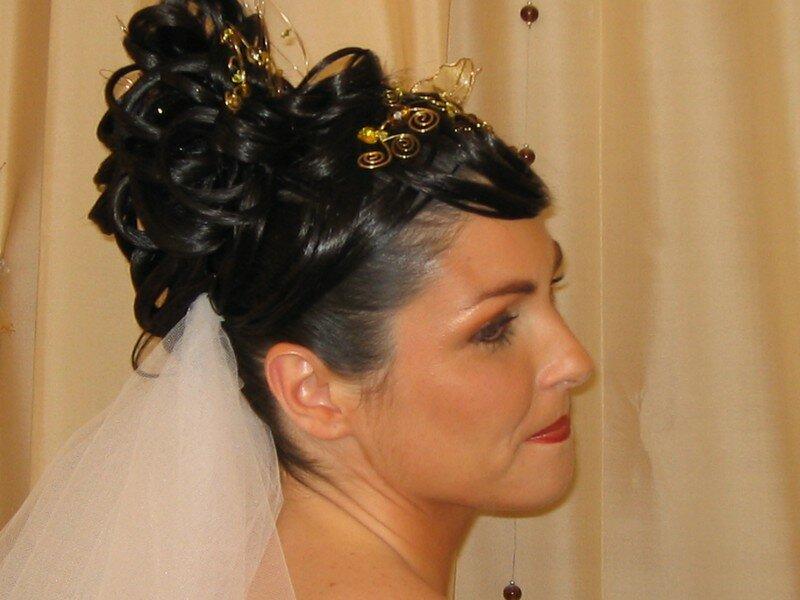 Coiffure de Mariage Chignon avec voile