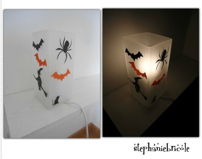 Tuto diy id es de d co faire soi m me pour halloween stickers lampes - Tuto deco halloween ...