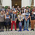 Les <b>élèves</b> de Wallis & Futuna en visite à Limoges