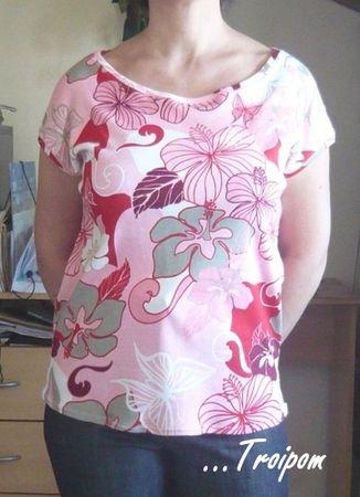 tee-shirt jersey fleuri 2
