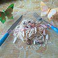 Linguines aux moules, crevettes et calamar