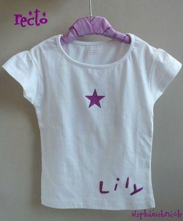 tee shirt étoile lily