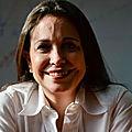 Vénézuela: Indigne! Maria Corina Machado se rejouit des sanction Européene contre son pays