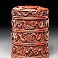 Lacquered box with auspicious <b>symbols</b>, 16th century, Ming Dynasty (1368 - 1644)