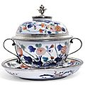 A French silver mounted two-handled Imari bowl and cover, the mounts, Paul Leriche, <b>Paris</b>, 1722-1726