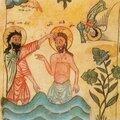 Le Baptême de Jésus. Marc 1, 9-13 et parallèles. <b>Symboliques</b> développées dans les premiers siècles. Réflexions pastorales
