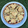 Tarte aux fraises cuites (il y a de l'amour dans l'air)