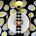 DIY <b>déco</b> de <b>Pâques</b> : les sets de table oeufs au plat