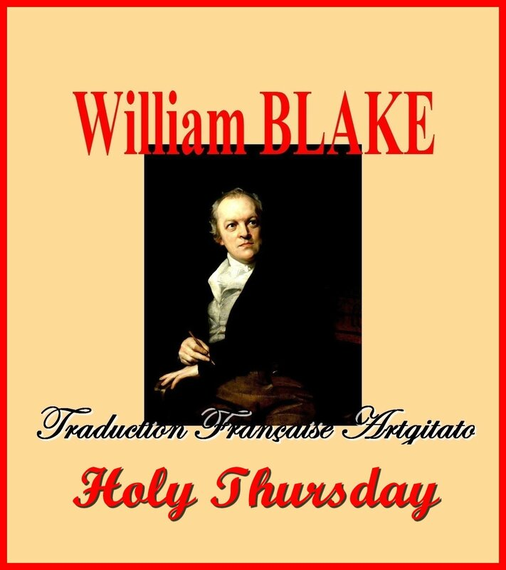 Holy Thursday William Blake Saint Jeudi Traduction Artgitato française