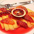Carpaccio de mangue et <b>orange</b> sanguine
