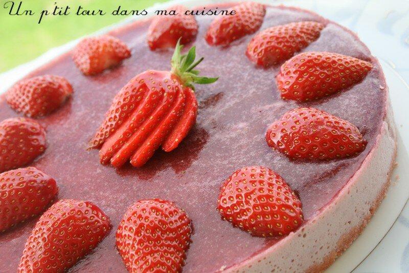 Top P'tit gâteau miroir fraises et biscuits de Reims - Recette DG19