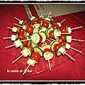 Brochettes fraicheur