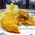 Clafoutis au maïs et poivron <b>jaune</b> (Défi Arc-en-Ciel, couleur <b>jaune</b> )