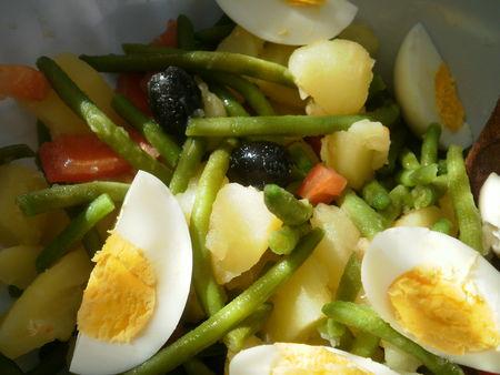 recettes  Salade de pommes de terre à la niçoise.