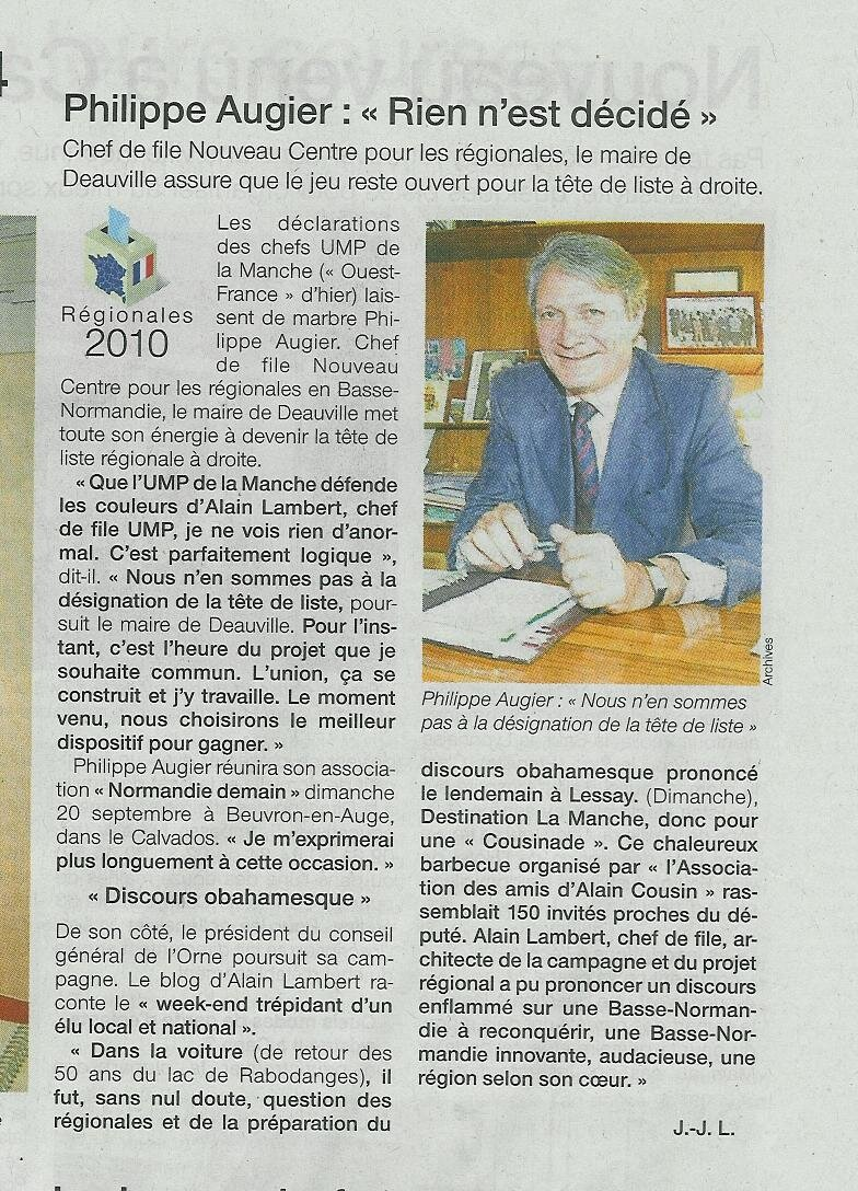 Communiqué d'Alain Lambert. 43723365