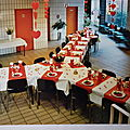 Table St Valentin rouge et blanc