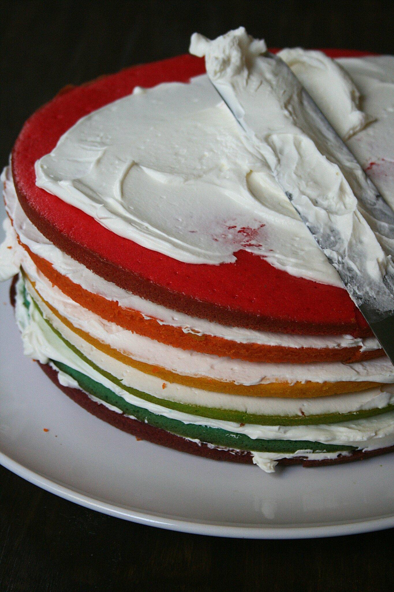 Recette De Garniture Cake Design : Rainbow cake : gateau arc-en-ciel avec astuces et conseils ...