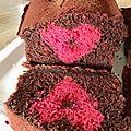 Cake de la St Valentin Chocolat, Framboises