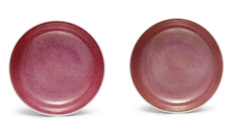A pair of aubergine-glazed dishes, marks and period of Guangxu (1875-1908)
