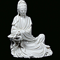 A Blanc de Chine porcelain Guanyin, China, Dehua, beginning <b>18th</b> <b>century</b>