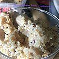 Quinoa, champignon, lentilles corail façon risotto