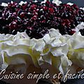 Pavlova aux fruits <b>rouges</b>