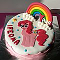 Gâteau mascarpone fraises chocolat Pinkie Pie