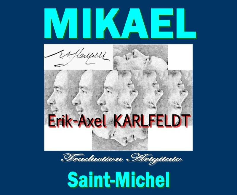 Mikael Karlfeldt poesi saint-michel Erik Axel Karlfeldt Poésie Artgitato Traduction