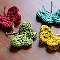 Papillons au <b>crochet</b>