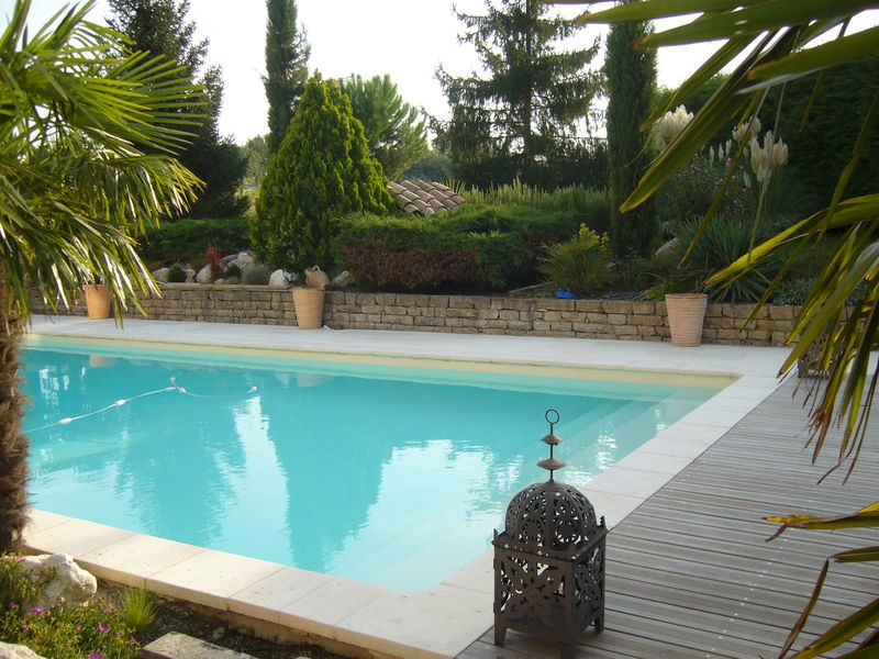 Piscine en teck for Terrasse teck piscine