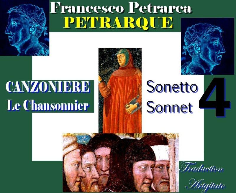 Pétrarque CHANSONNIER PETRARQUE Sonnet 4 canzoniere petrarca sonetto 4 Artgitato