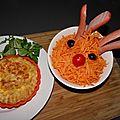 Renne Rudolphe et quiche au fromage