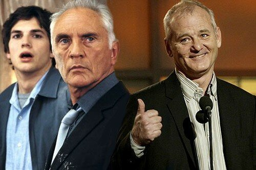 Terence Stamp, au centre, & Bill Murray, à droite