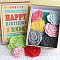 Une jolie boite à 1 euro pour faire un petit cadeau d'anniversaire