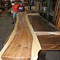 Dalles de bois massif, meubles en bois massif tranches supérieures, des dalles de bois de feuillus, solides sommets comptoir