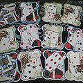 cartounettes dentelles et <b>carte</b> abat jour pour anniversaire