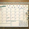 Le calendrier de Decembre à <b>imprimer</b> !