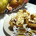 <b>Cupcakes</b> poire/nougatine, caramel au beurre salé