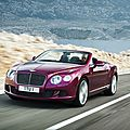 La Bentley <b>Continental</b> GT Speed enlève le haut à Détroit 2013 (CPA)