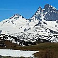 Pic de Pasino (1969 m) et lac d'Escarra