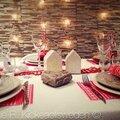 TABLE DE NOËL <b>blanc</b> polaire et <b>rouge</b> gourmand