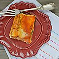 Lasagnes au potiron et au chou khale (sans fromage)