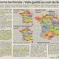 <b>Réforme</b> territoriale: Manuel VALLS devant le Sénat pour en finir avec l'orthodoxie jacobine...
