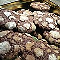 Biscuits craquels au chocolat de <b>Martha</b> <b>Stewart</b>.