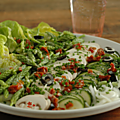 Salade très, très croquante pour faire venir l'été ... Si, si. Il faut y croire ! Il va finir par arriver.
