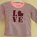 Tee-shirt rayé love