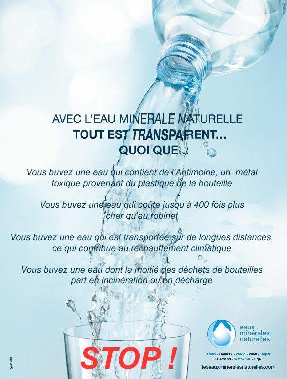 L eau en bouteille boit elle la tasse pariscomlight - Chambre syndicale des eaux minerales ...