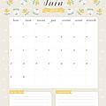 Calendriers mensuels : juin 2015 (à <b>imprimer</b> - gratuit)